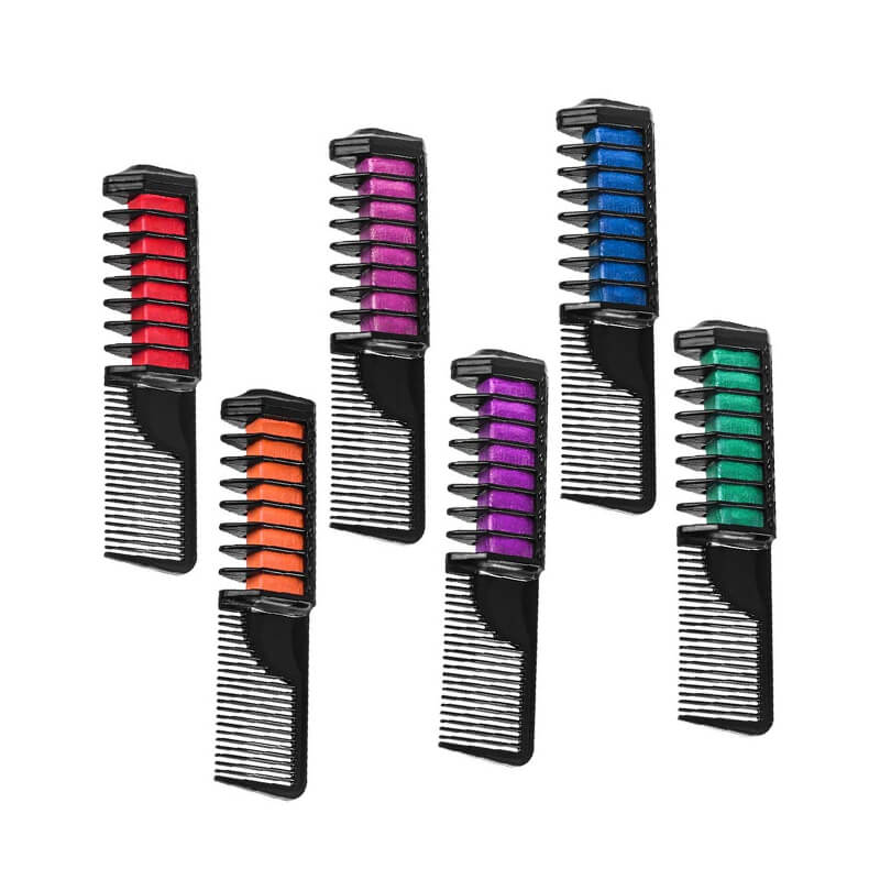 Hair Chalk Color Comb Temporary Hair Color Cream Non-toxic Washable 6 Pack