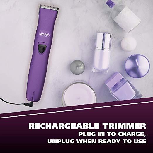 Women's Electric Shaver, Rechargeable Waterproof Grooming Razor Trimmer - Purple