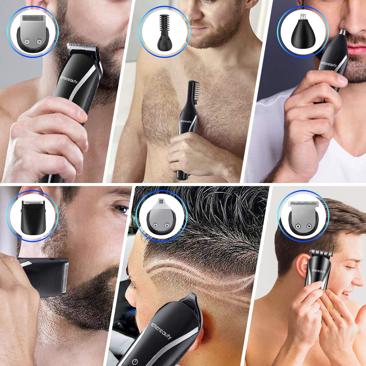 11 In 1 Multi-Functional Grooming Kit, Cordless Waterproof Hair Beard Trimmer Haircutting Kit