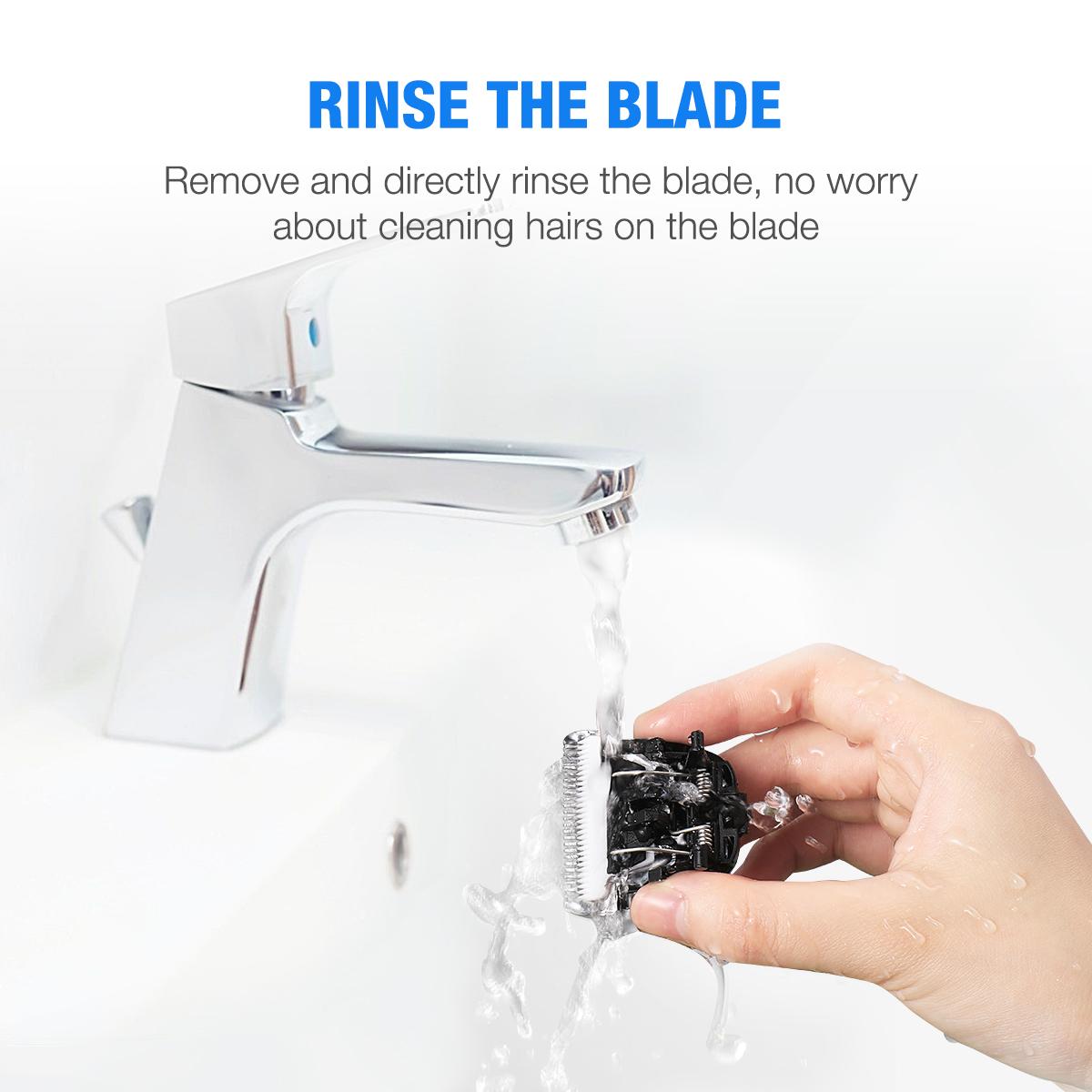 Professional Hair Clipper & Beard Trimmer, Cordless Waterproof Hair Cutting Kit - Black