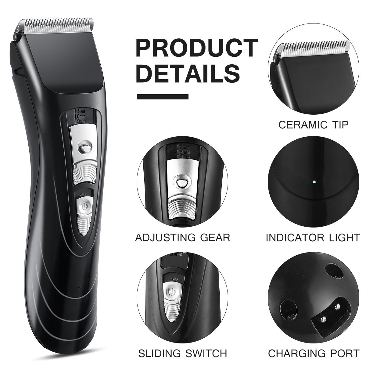 Cordless Hair Clippers for Men, Cordless Hair & Beard Trimmer Waterproof Kit