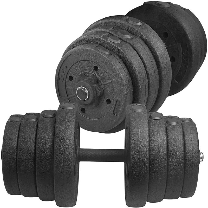 Dumbbell Set Adjustable Barbell Plates Fitness Dumbbell for Body Workout (30KG/66LB)