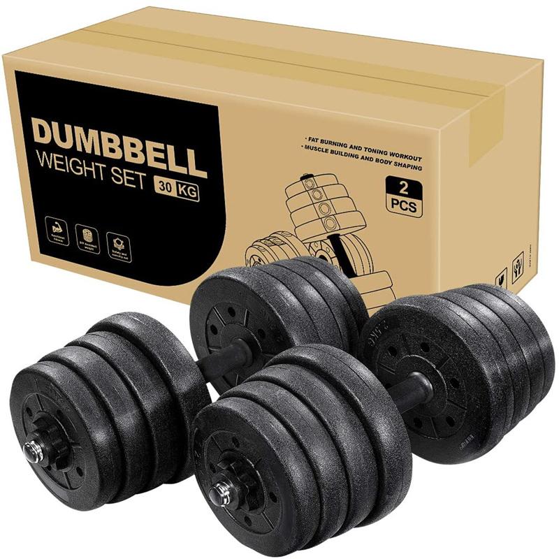 Adjustable Dumbbells Set, 66 LB Free Weights Dumbbells Non-Slip Fitness Barbell Set