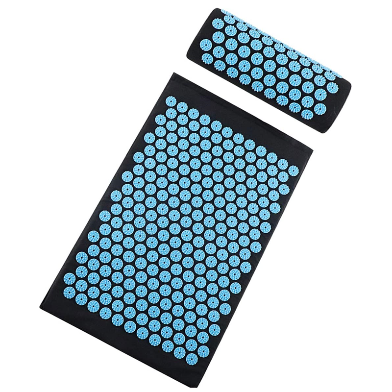 Acupressure Mat and Pillow Set, Back and Neck Pain Relif Muscle Relaxation