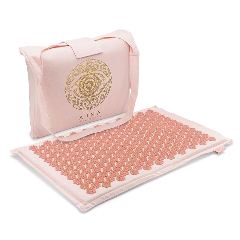 Acupressure Mat for Massage - Natural Organic Cotton Acupuncture Mat & Bag (Sherbert)