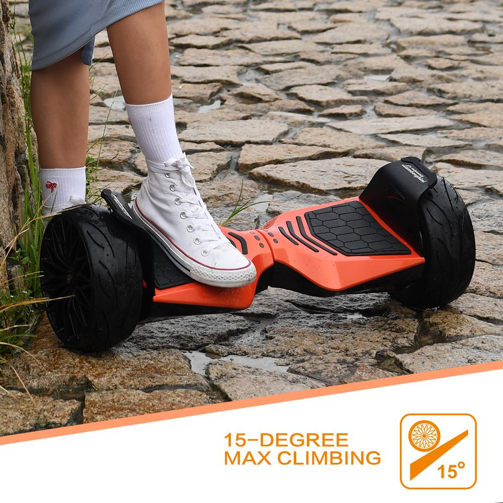 Lamborghini Hoverboard 8.5'' Smart Electric Self-Balancing Scooter With Bluetooth Speaker (Orange)