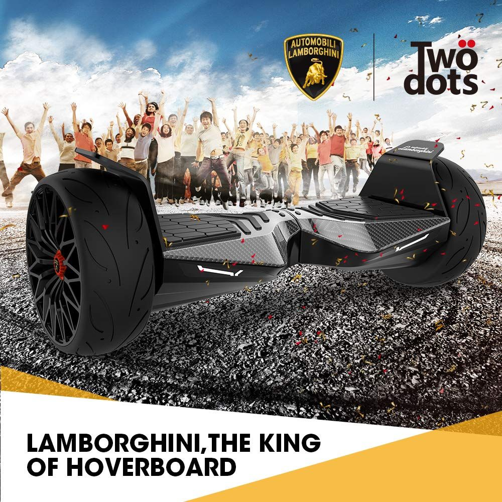 Lamborghini Hoverboard 8.5'' Electric Self-Balancing Scooter Smart Hoverboard (Carbon Fiber)