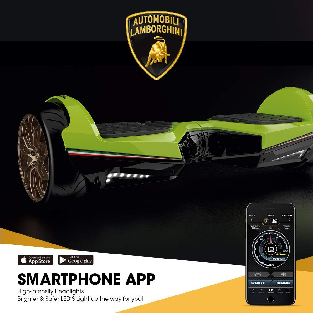 Lamborghini Hoverboard 6.5'' With Bluetooth & App Self Blanacing Scooter Hoverboard (Green)