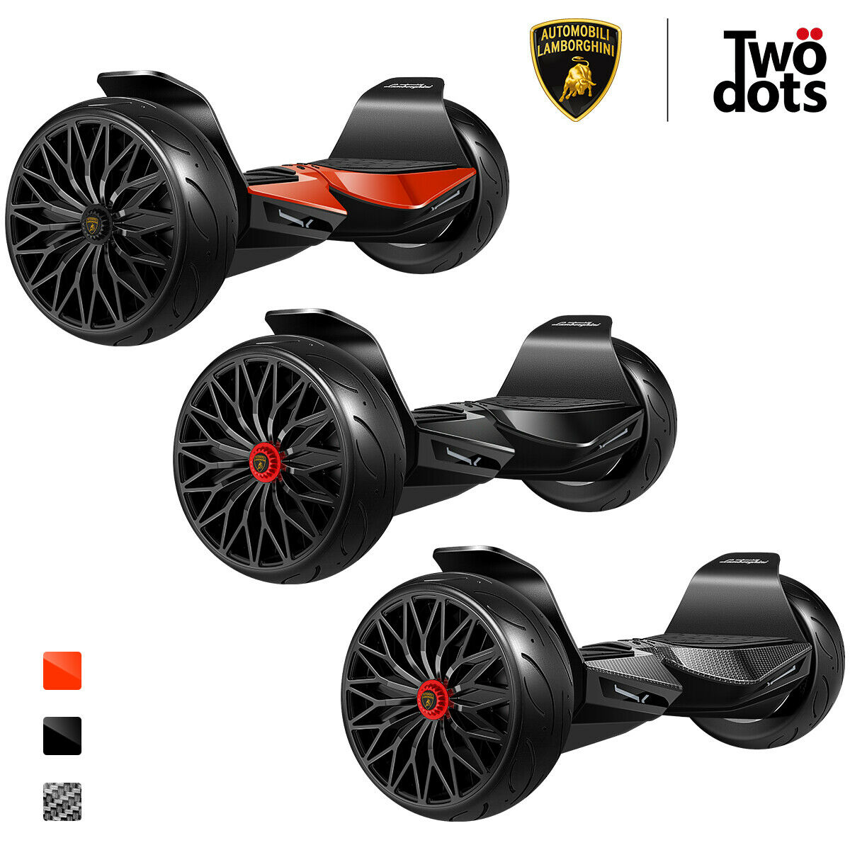 Lamborghini Hoverboard With Bluetooth Speaker & App 8.5' Two-Wheel Balancing Scooter (Black)