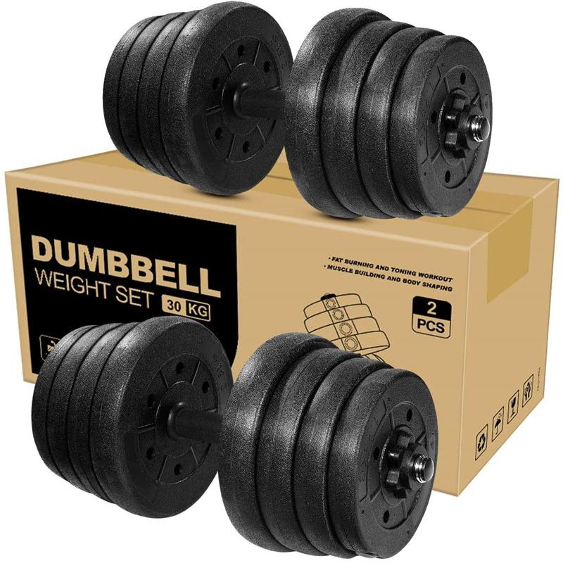 Adjustable Weights Dumbbells Set Barbell Fitness Dumbbell for Body Workout (30KG/66LB)