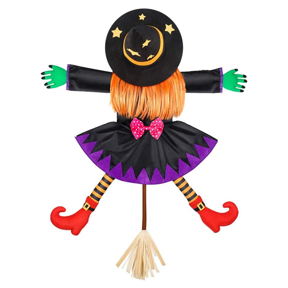 Crashing Witch into Halloween Tree Decoration, Crashed Witch Props Halloween Hanging Witch Doll Decorations