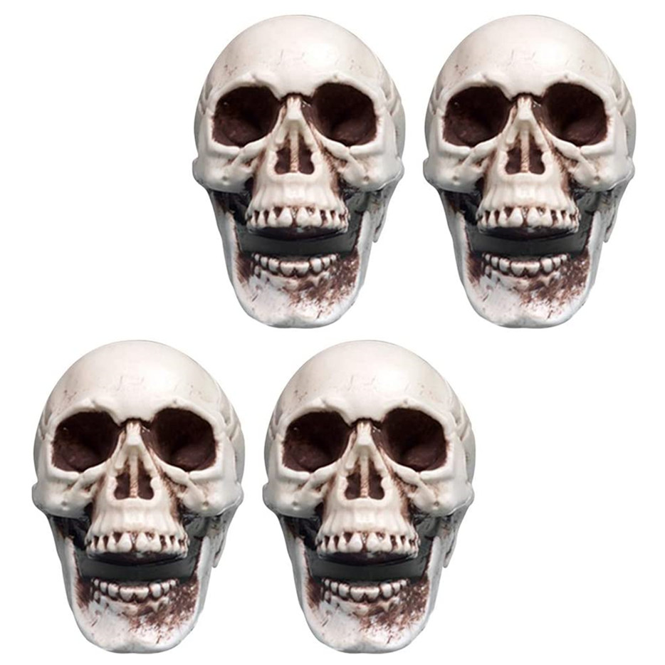 Decor Table Halloween Mini Plastic Skull, Horrible Jaw Halloween Prop Halloween Bedroom Decor 4pcs