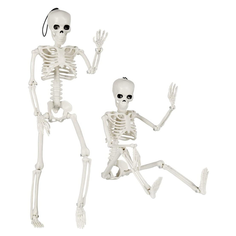 Halloween Skeleton Decorations, Scary Halloween Hanging Skull Ornaments for Home Shop Haunted House 2 Pcs