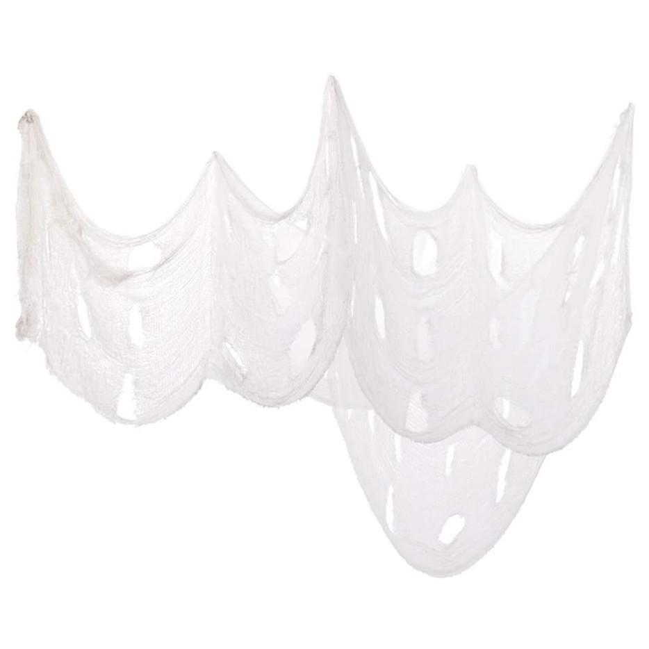 Halloween Haunted House Creepy Cloth Decoration Gauze for Halloween Decor 3PCS, White