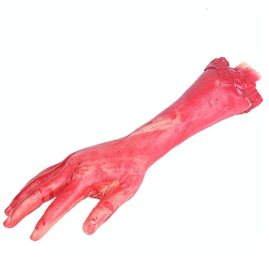 Horror Bloody Realistic Prosthetic Fake Human Body Parts Creepy Severed Arm Broken Hand Halloween Decoration Props