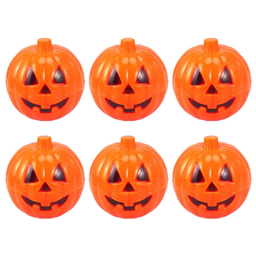 Halloween Party Favors Holder Pumpkin Shaped Containers Small Candy Storage Box Mini 6PCS