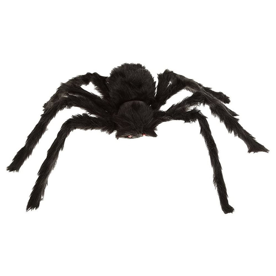 Black Large Spider Halloween Decoration Haunted House Prop Plush Spider Scary Decoration for Indoor Outdoor Yard 30CM