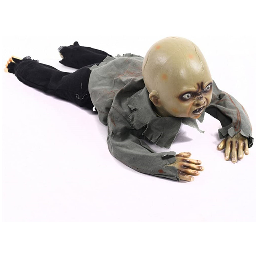 Halloween Decoration Crawling Zombie Creeping Zombie Props Horror Bloody Haunted House Yard Scary Decoration