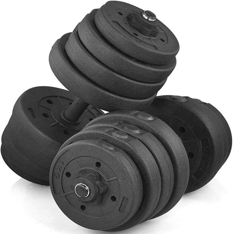 66lb Adjustable Free Weights Dumbbells Barbell Set for Exercise Lifting Workout (30KG)