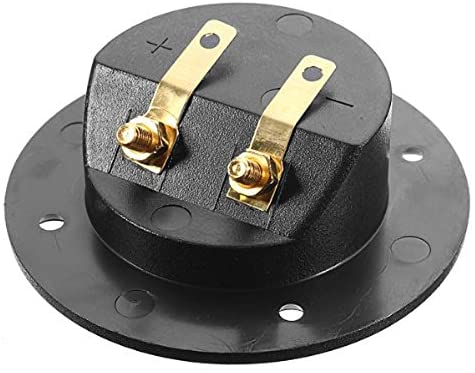 DIY Home Car Stereo 2-Way Speaker Box Terminal Binding Post Round Screw Cup Connector Subwoofer Plug (Black)