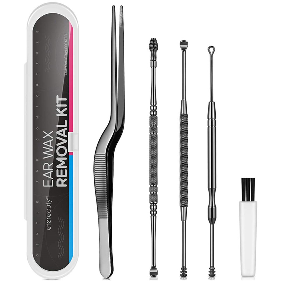 Ear Pick Earwax Removal Kit, Ear Cleaning Remover Tool Set Medical Grade Stainless Steel Ear Curette Cleaner
