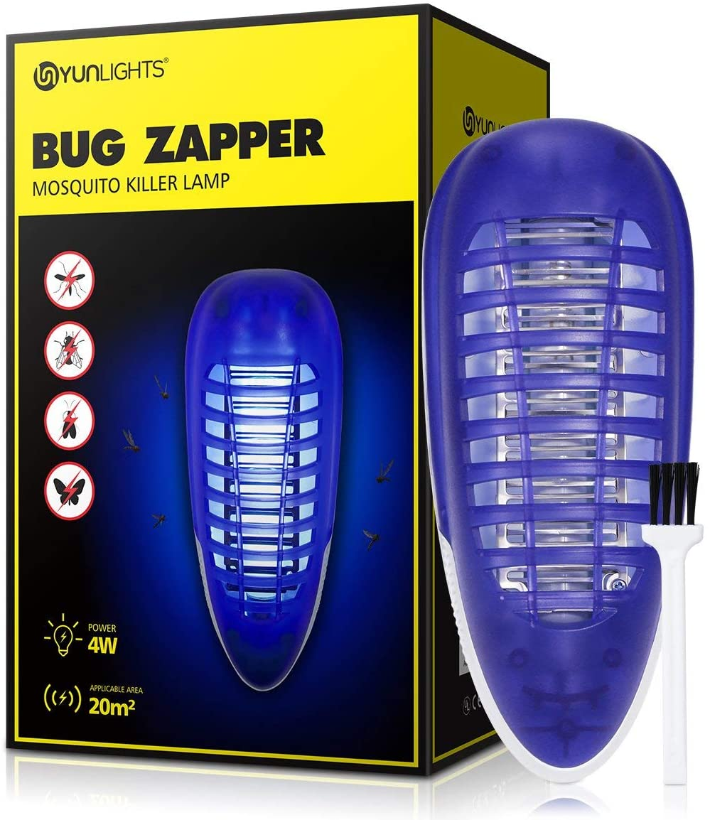 Bug Zapper Light, Mosquito Killer for Indoor Use,Fly Killer for Bedroom and Kitchen, 4W Plug-in Portable Fly Trap