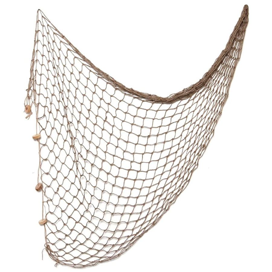 Decorative Fishing Net Decor Natural Fish Net Party Decoration Fish Net Decoration Photographing Accessory