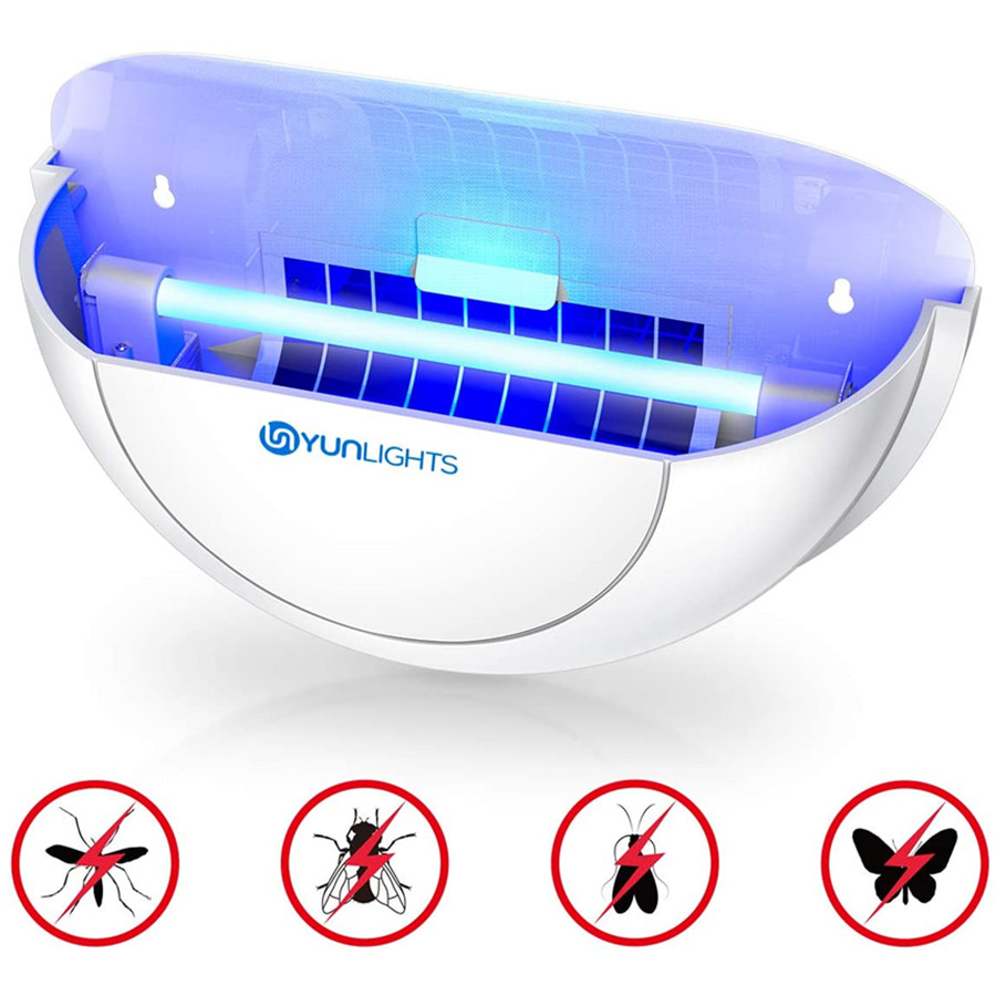 Wall Sconce Fly Light Trap with 10 Glue Board Insect Killer Zapper with UV Light for Capturing Flies, Moths and Other Flying Insect