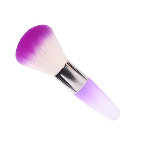 Nail Art Dust Remover Powder Brush Cleaner Manicure Nail Brush for Acrylic UV Gel Nail Art Cleaner (Random Color)