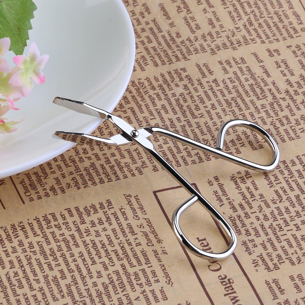 Stainless Steel Eyebrow Tweezer, Facial Hair Tweezer Nose Hair Trimmer Eyebrow Clip (Silver)
