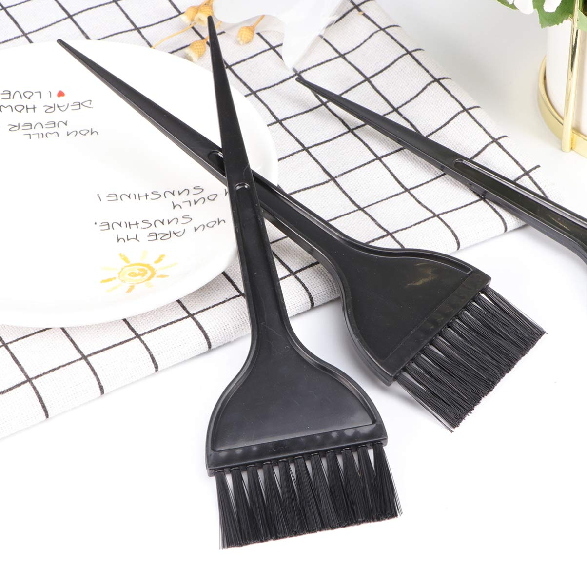 Hair Dye Brushes, Highlight Brush Handle Hair Coloring Dyeing Kit Color Tint Applicator 12 Pack