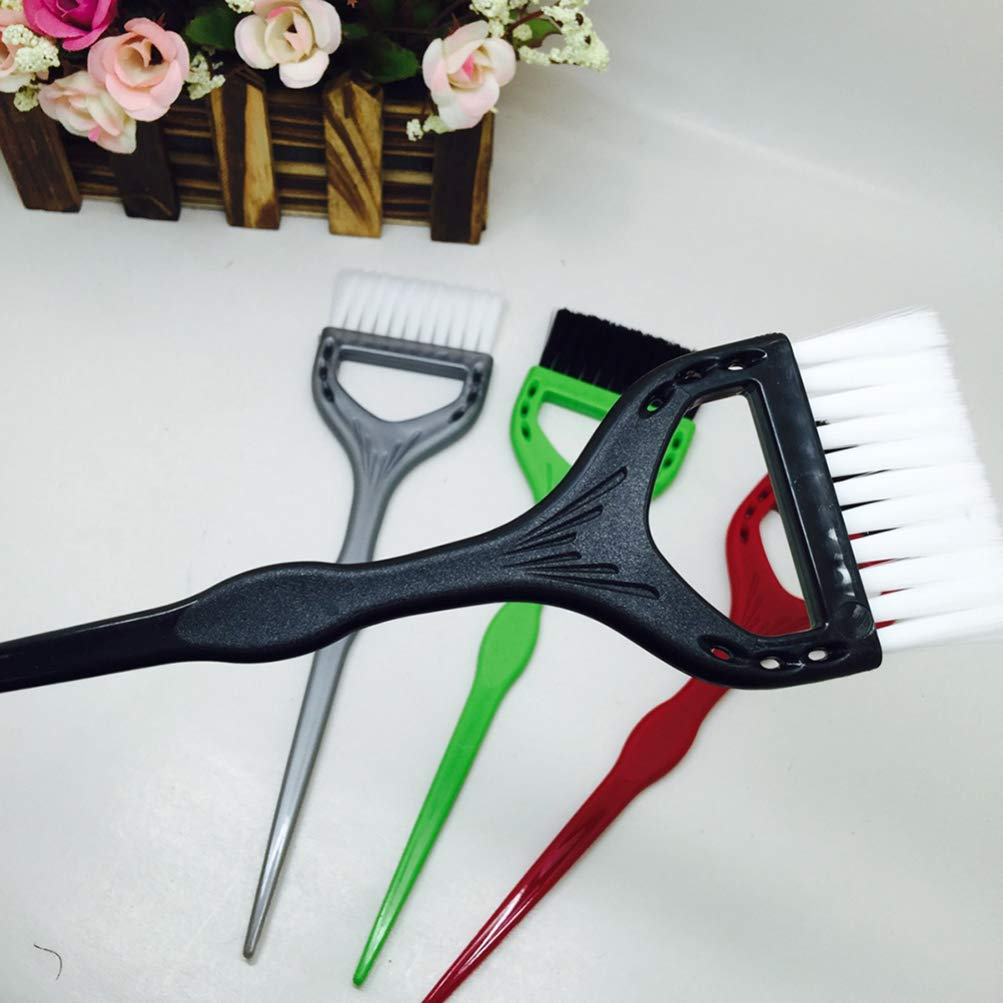 Hair Dye Brush Professional Hair Dye Applicator Brush Handle Salon Hair Bleach Tinting DIY Tool (Random Color)