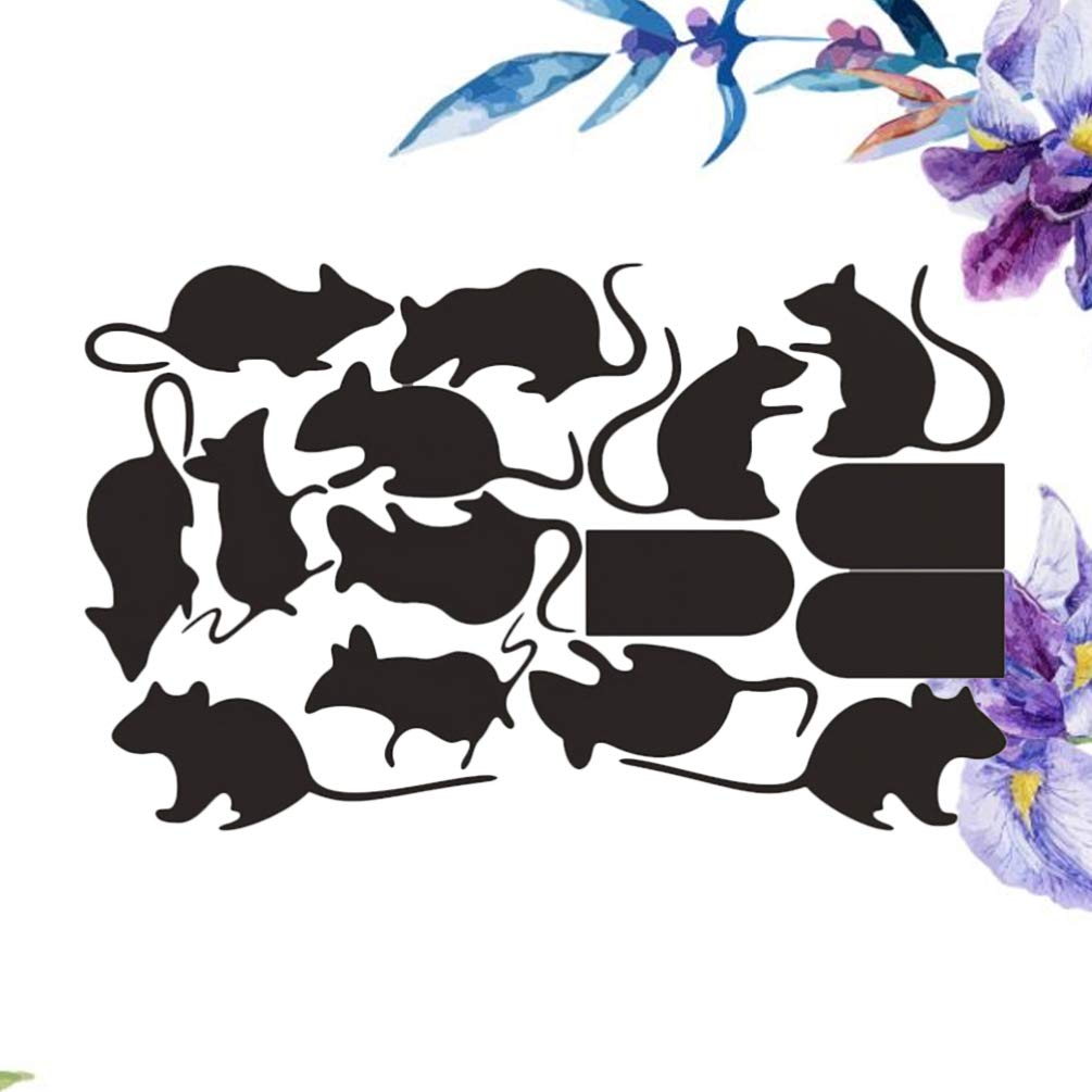 Halloween Wall Sticker Mouse Pattern PVC Wallpaper Stickers Wall Decal Removable Wall Art Stickers 4 Sets