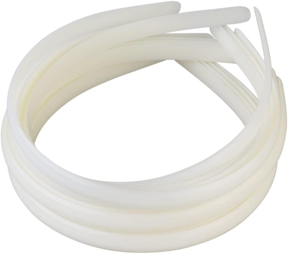 Plastic Headbands Women's Plastic Hair Headband 10mm Plastic Hair Ties Headbands 12pcs