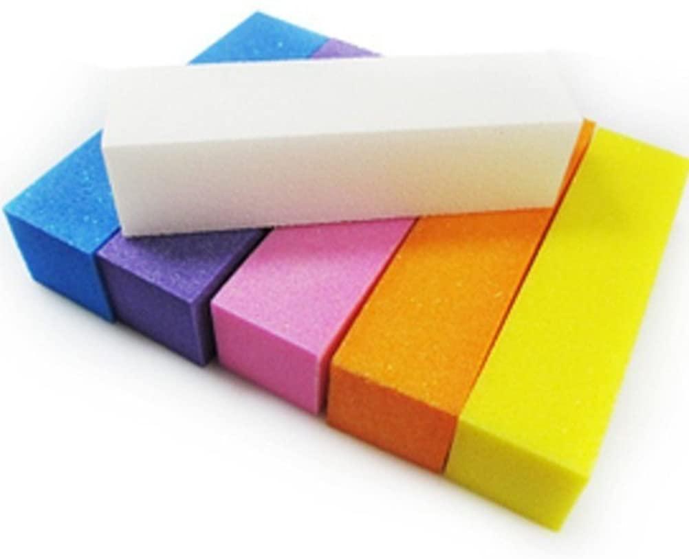 Nail Art Sanding File Nail Buffer Block Manicure Pedicure Care Tools Best Nail Buffer 5Pcs (Random Color)