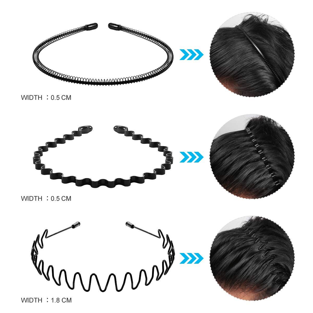 Unisex Wavy Women Headband Cute Headbands for women Hair Accessories Hair Bands for Women, 6Pcs