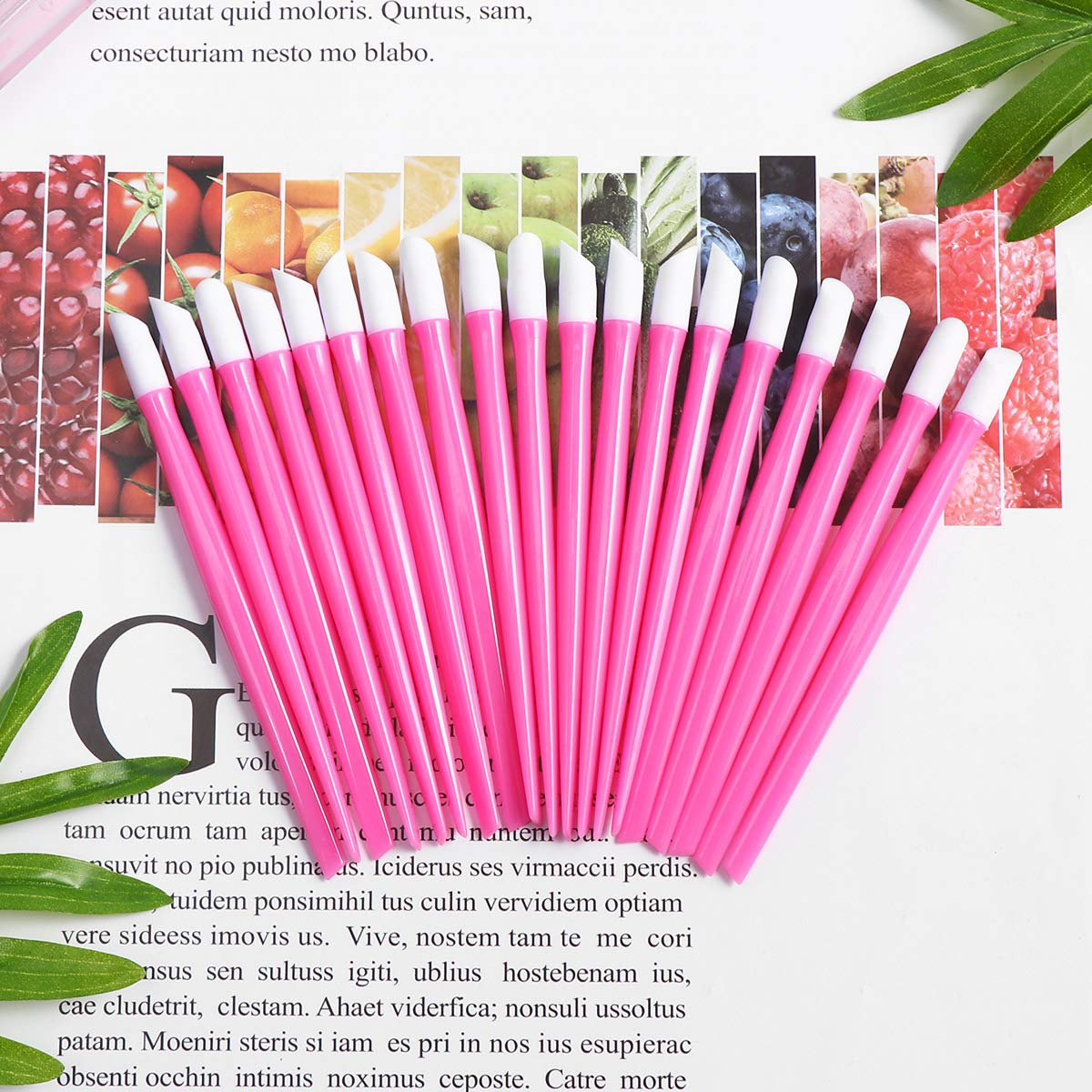 Nail Cuticle Pusher Rubber Cleaning Stick Dead Skin Cleaner Nail Art Tool Nail Dremel, 20Pcs