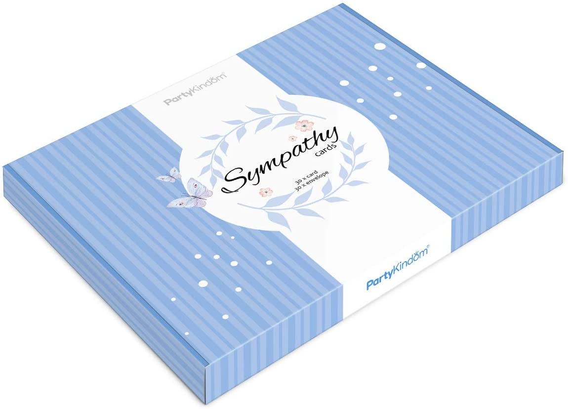 Sympathy Cards, Blessing Cards Condolence Greeting Cards-6 Designs with Envelopes, 30PCS