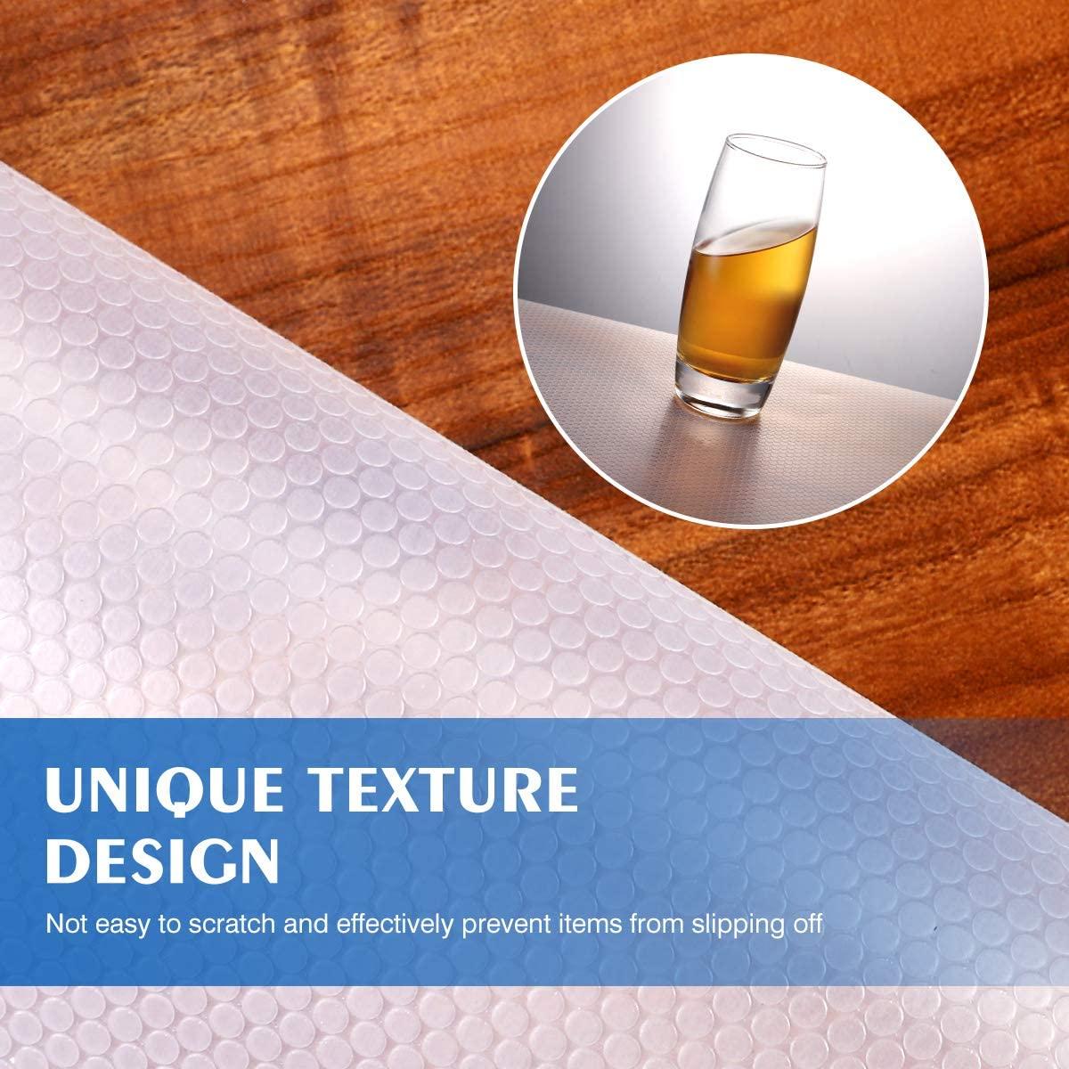 Shelf Liner, 2 Rolls Non-Adhesive Drawer Liner Versatile Kitchen Cabinet Liners Non-Slip Liners