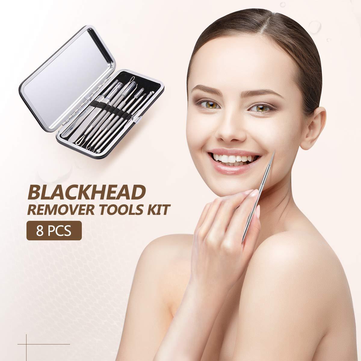 Blackhead Remover Tool Pore Extractor Tool, Professional Blackhead Extractor Acne Removal Tweezer Kit