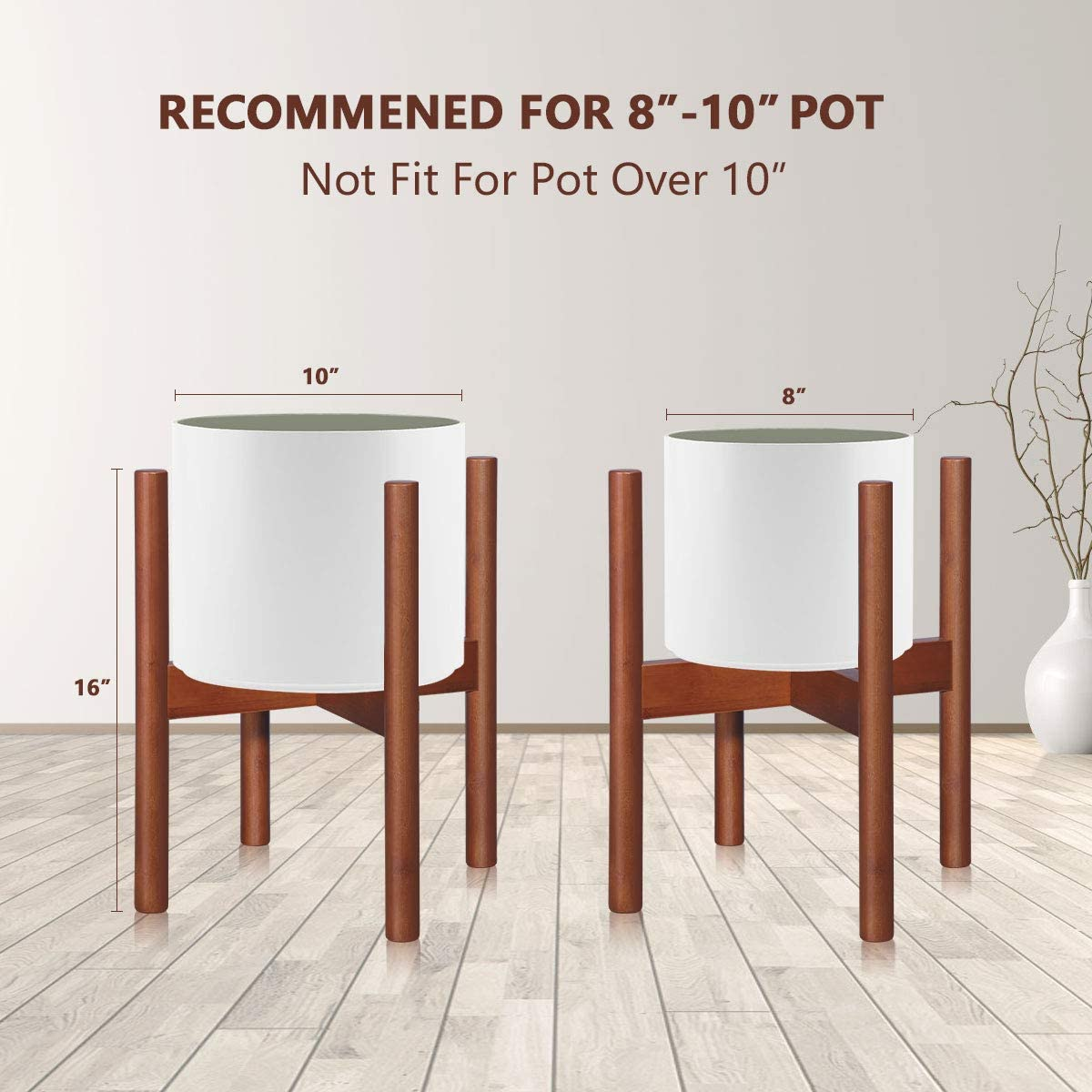 Plant Pot Stands, Corner Plant Stand Indoor Display Stand Bamboo Plant Display Rack (Brown)