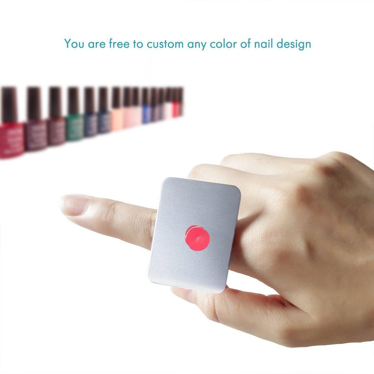 Nail Art Palette Stainless Steel Makeup Mixing Palette Ring Nail DIY Color Mixing Palette Metal Tool 2PCS