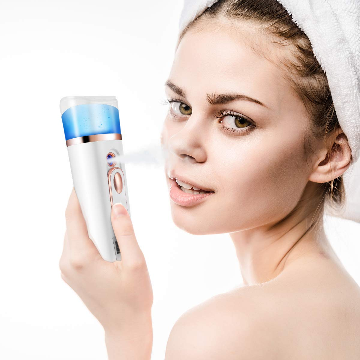 Handy Mist Sprayer Face Steamer Nano Mister for Skin Care, Face Moisturizing Hydration Refreshing