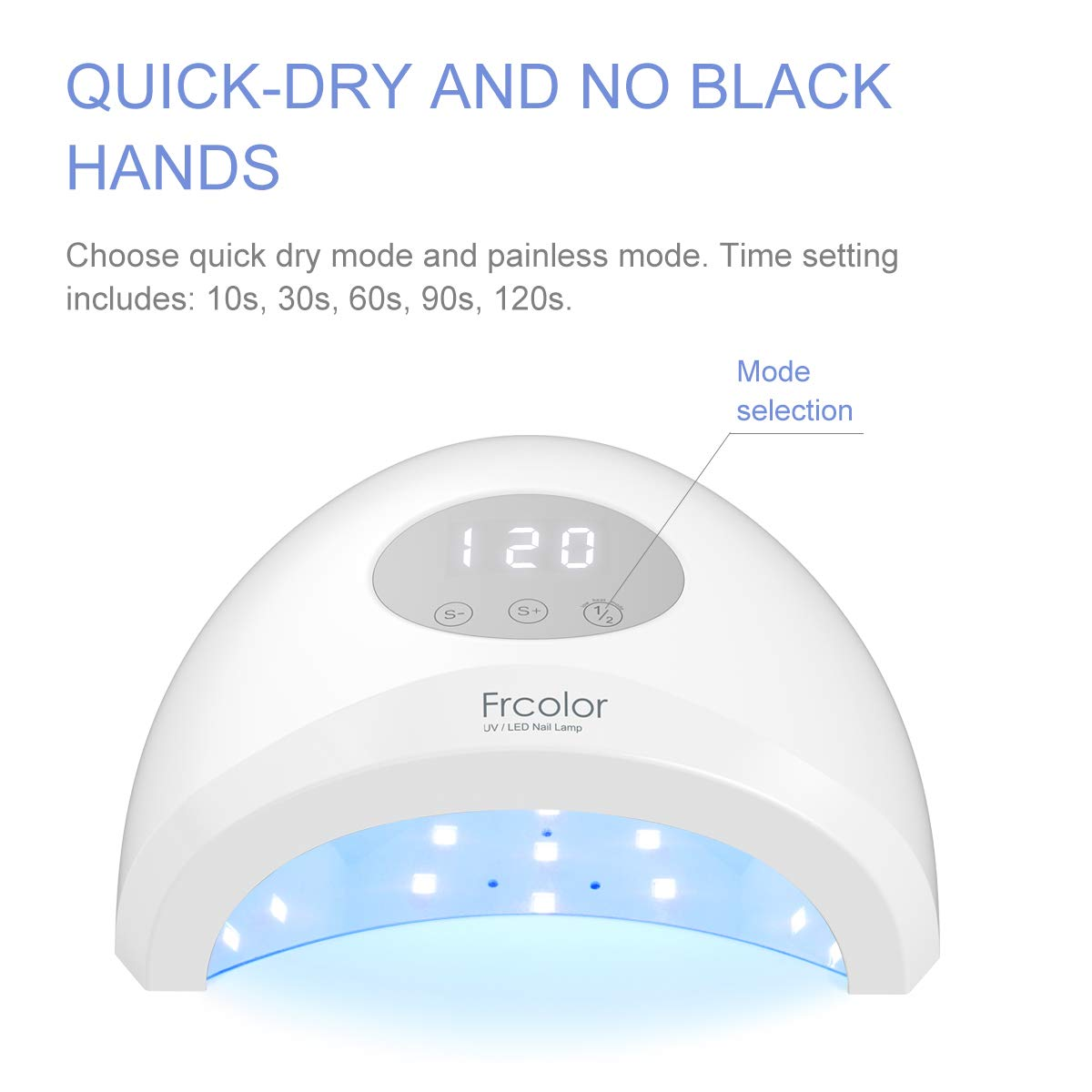 LED UV Nail Lamp for Gel Polish with 5 Timer Setting, Nail Dryer Lamp Gel Manicure Light for Home and Salon