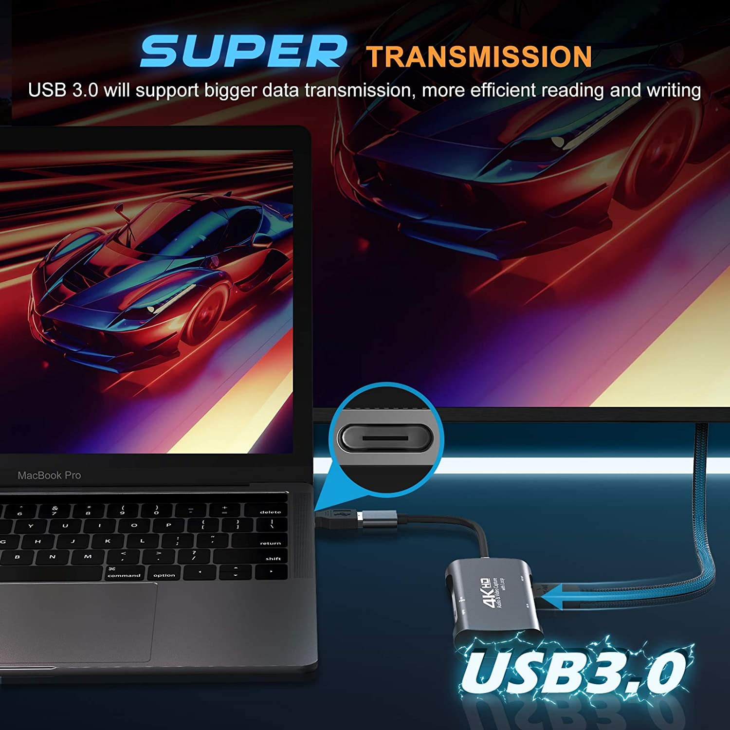 Game Capture Card 4k Video Capture Card USB 3.0 1080p 60fps Live Streaming HDMI Game Recorder Device Compatible