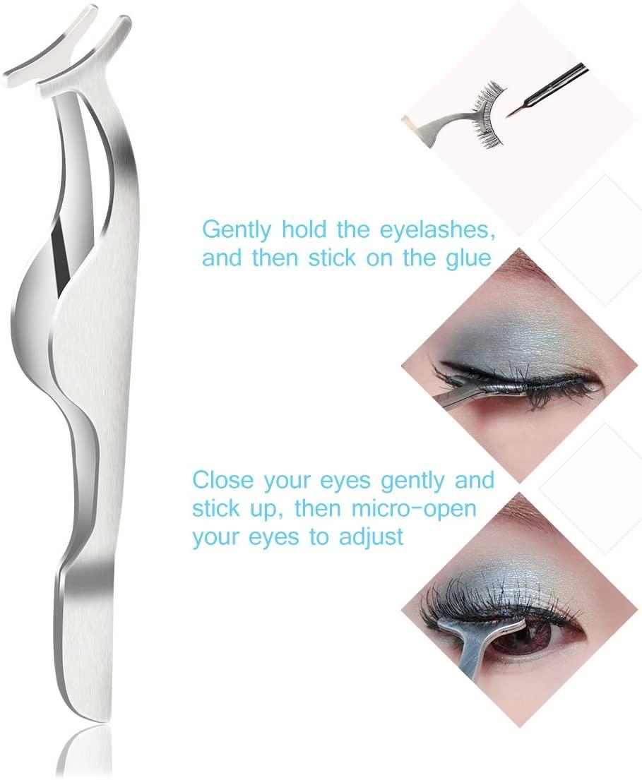 Eyebrow Tweezers Set, Eyebrow Tweezers Precision Slant Tip Hair Tweezer Makeup Tool, 4 Pcs