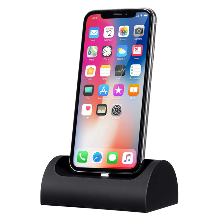 Phone Desk Stand, Silicone Car Phone Holder Compact Phone Accessories Desk Stand