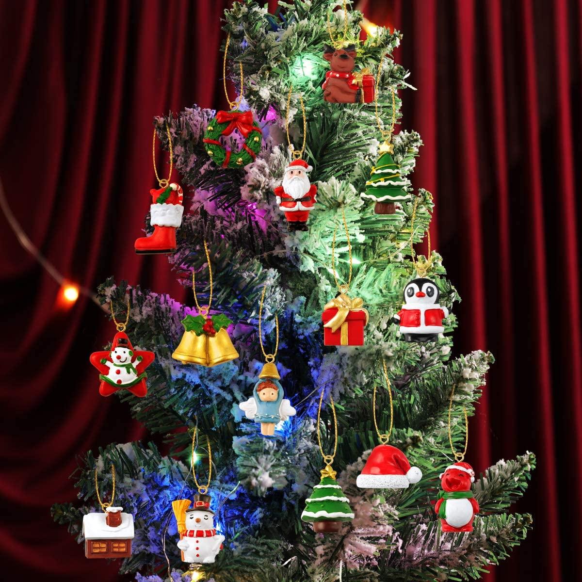 Advent Calendar, 24Pcs Hanging Ornament Advent Calendar Christmas Decorations Wall Christmas Tree