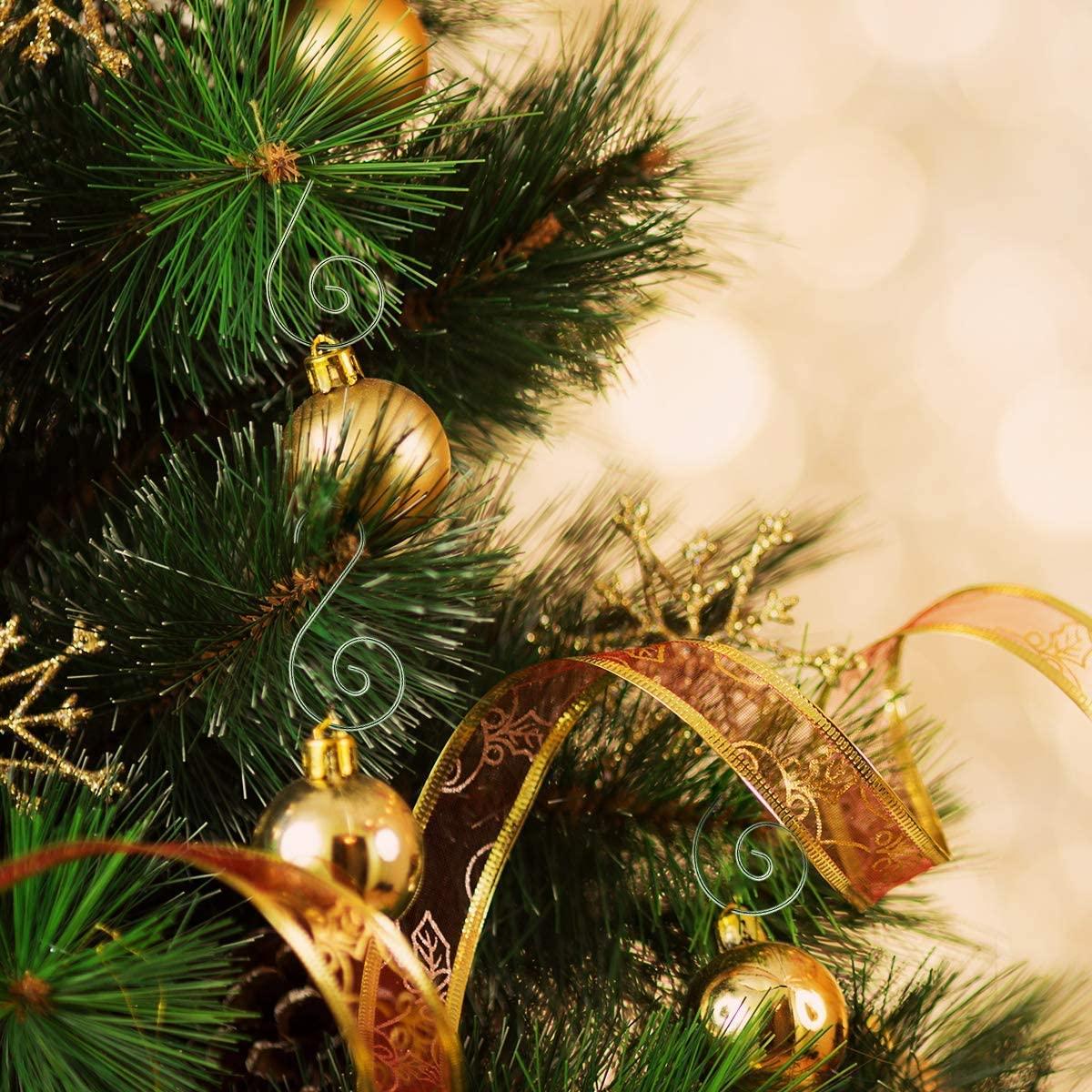 Ornament Hooks, Christmas Ornament S-shaped Hooks Christmas Tree Hanger for Christmas Decorations 100 Pack