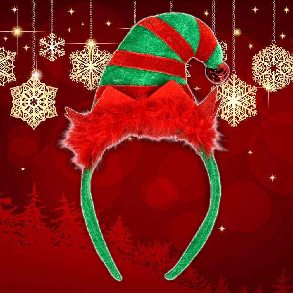 Christmas Headband, Costume Holiday Party Christmas Cute Hair Hoop Headwear for Kids Adult